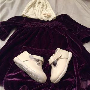 Infant girl size 18m Purple Velvet Dress